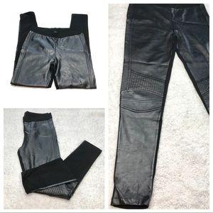Zara Moto Leggings Black Large 'Leather'